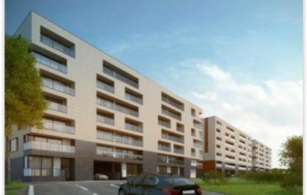Bouw van 300 appartementen en woningen te Halle